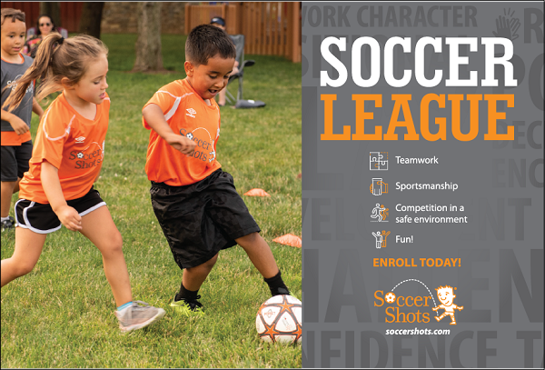 "6"" x 4"" SOCCER LEAGUE Postcard - Upload Your Own Design for Back"