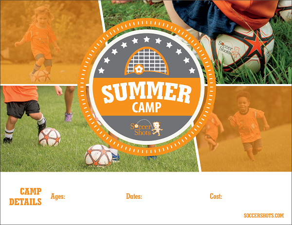 "8.5"" x 11"" Horizontal SUMMER CAMP 2021 Poster"