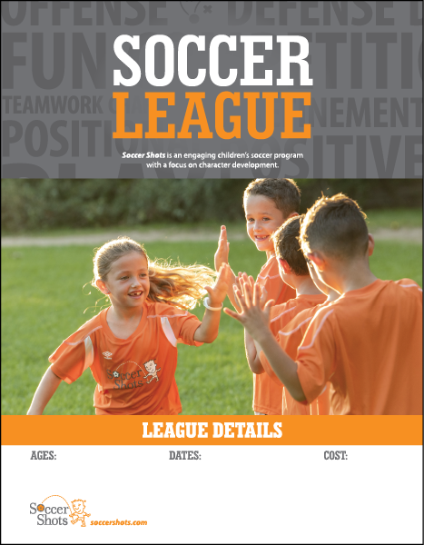 "8.5"" x 11"" Vertical SOCCER LEAGUE Poster"