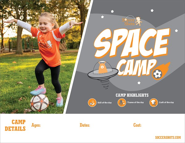 "8.5"" x 11"" Horizontal Space Camp 2020 Poster"
