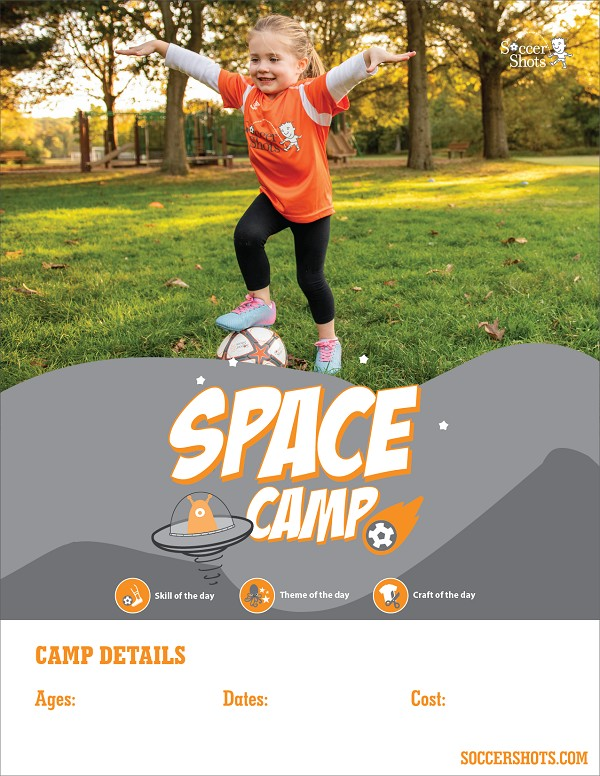"8.5"" x 11"" Vertical Space Camp 2020 Poster"
