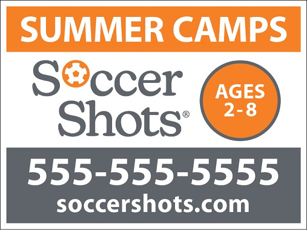 "18"" x 24"" Yard Sign - Summer Camps - Phone Number"
