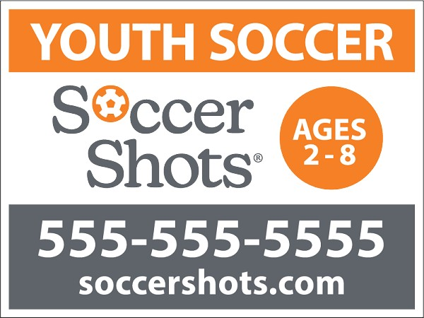 "18"" x 24"" Yard Sign - Youth Soccer - Phone Number"